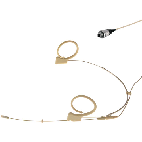 Voice Technologies VT DUPLEX Omni Headset Microphone with LEMO 3-Pin Connector for Sennheiser Transmitters (S/M, Beige)