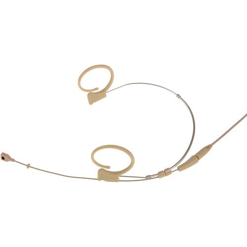 Voice Technologies 3-Wire Pigtail Duplex-Cardioid Microphone Headset (Unterminated, Beige)