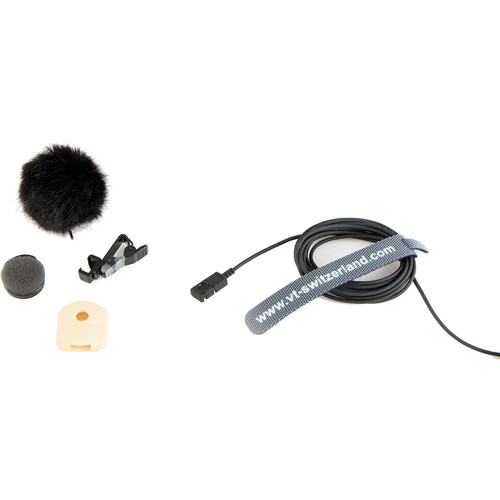 Voice Technologies 20th Anniversary Limited Edition VT500WATER Waterproof Omnidirectional Lavalier Microphone (3.5mm Locking Mini Connector for Sennheiser, Black)
