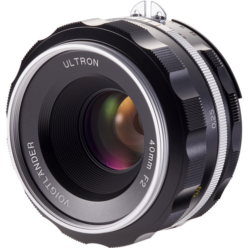 Voigtlander Ultron 40mm f/2 SL IIS Aspherical Lens for Nikon F (Silver Rim)
