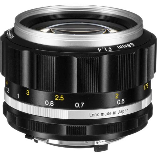 Voigtlander Nokton 58mm f/1.4 SL II S Lens (Silver)