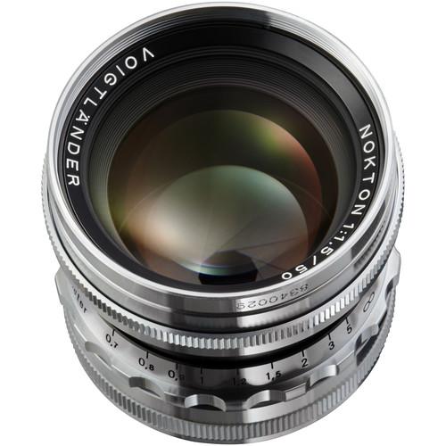 Voigtlander Nokton 50mm f/1.5 Aspherical Lens (Silver)