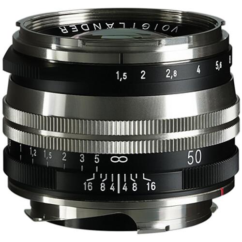 Voigtlander Nokton 50mm f/1.5 Aspherical II SC Lens (Nickel)