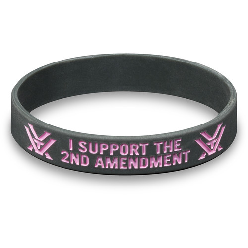 "Vortex ""2nd Amendment"" Wristband (Gray/Pink)"