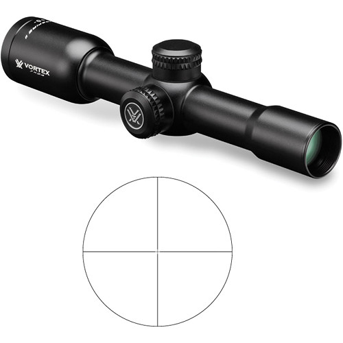 Vortex 1x24 Crossfire II Muzzleloader Riflescope (V-Plex Reticle)