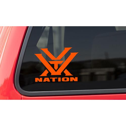 Vortex Nation Window Decal (Orange)