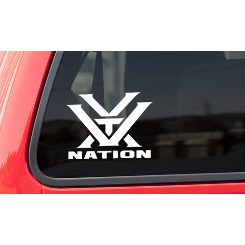 Vortex Nation Decal (White)