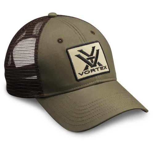 Vortex Mesh Cap (Green/Brown)
