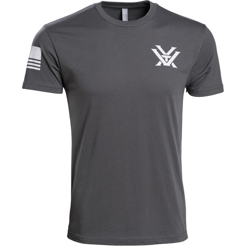 Vortex Patriot T-Shirt (2XL, Gray & White)