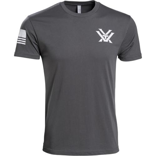 Vortex Patriot T-Shirt (XL, Gray & White)