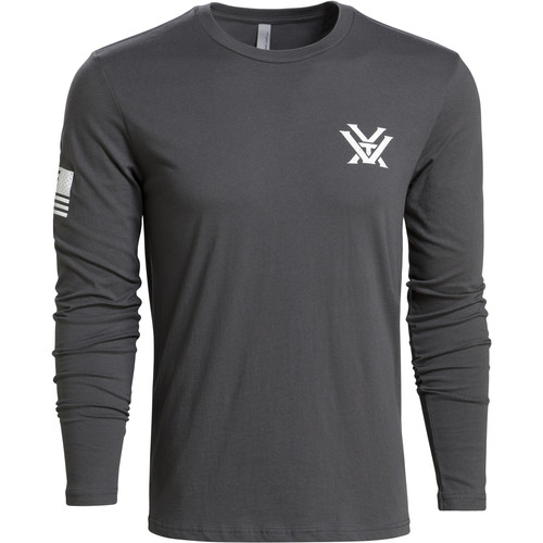 Vortex Gray Patriot Long-Sleeved Tee Shirt (L)