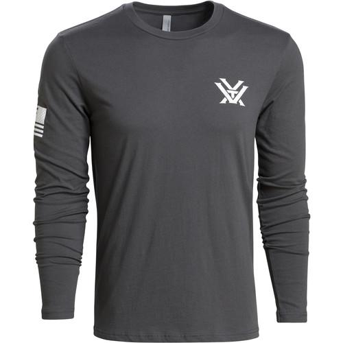 Vortex Gray Patriot Long-Sleeved Tee Shirt (XL)