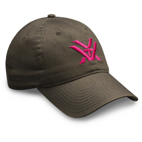 Vortex Ladies Gray and Pink Cap
