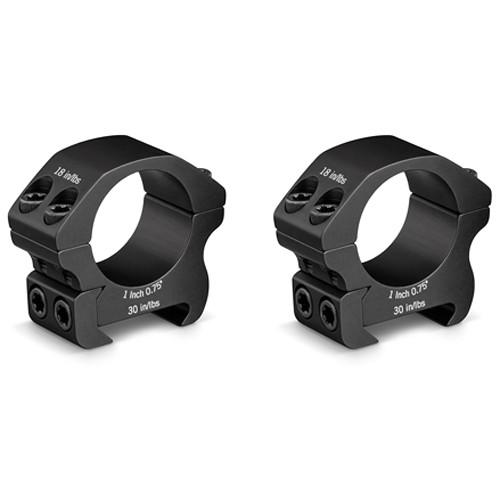 """Vortex Pro Series Riflescope Ring Pair (1"""", Aluminum, Low, Matte Black)"""