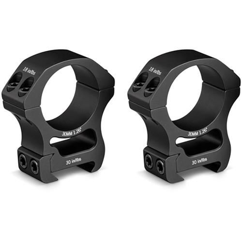 Vortex Pro Series Riflescope Ring Pair (30mm, Aluminum, High, Matte Black)