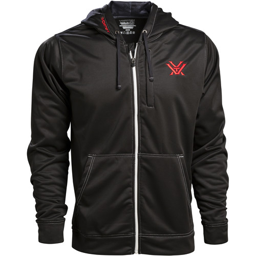 Vortex Black Zip-Up Hoodie (XL)