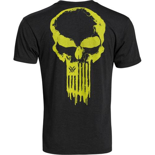Vortex Toxic Spine Chiller T-Shirt (XL, Black & Yellow/Green)