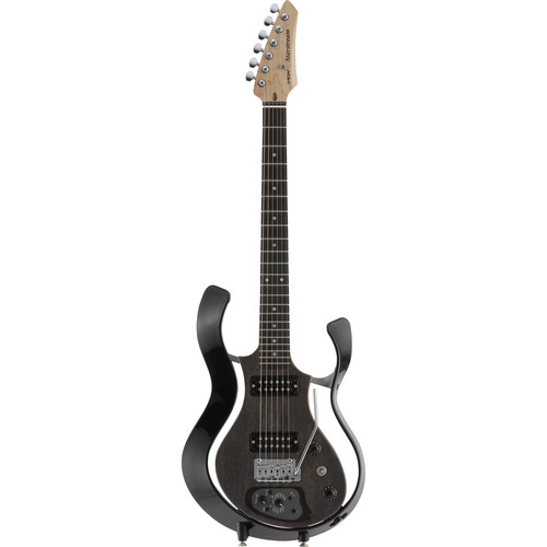 VOX Metallic Black Frame Electric Guitar with See-Through Semi-Gloss Black Body