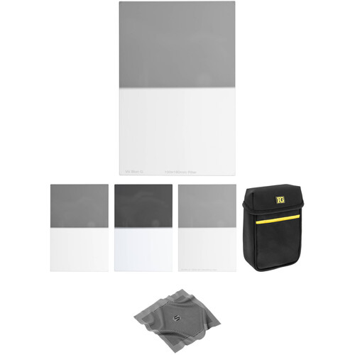 Vu Filters 100 x 150mm Sion Q Hard-Edge Graduated Neutral Density 0.3, 0.45, 0.6 and 0.9 Filter Kit (1, 1.5, 2, and 3 Stops)