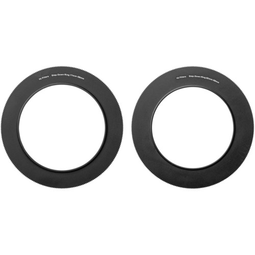 Vu Filters 58-77mm and 58-82mm Step Ring Kit for VFH100 100mm Professional Filter Holder Mounting Rings