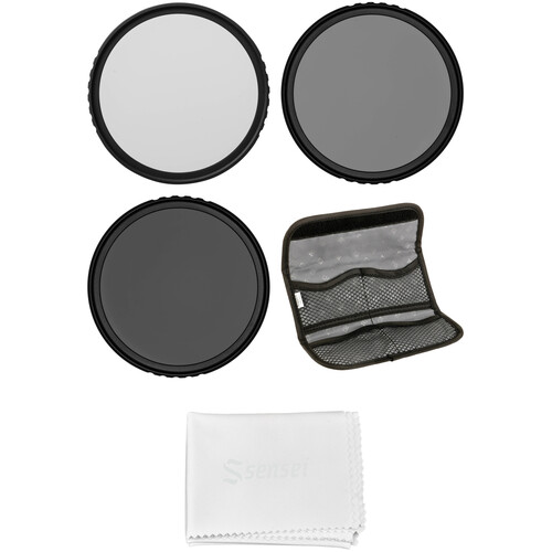 Vu Filters 62mm Sion Solid Neutral Density Filter Kit (1, 2, 3, and 10 Stops)