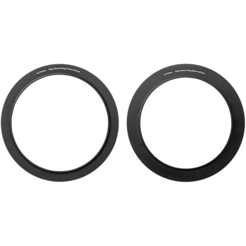 Vu Filters 67-77mm and 67-82mm Step Ring Kit for VFH100 100mm Professional Filter Holder Mounting Rings