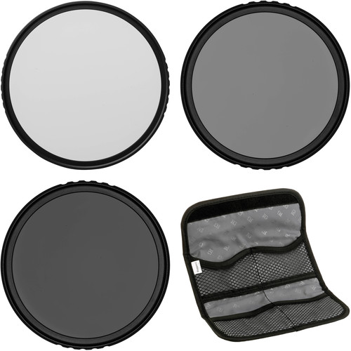 Vu Filters 77mm Sion Solid Neutral Density Filter Kit (1, 2, and 3 Stops)