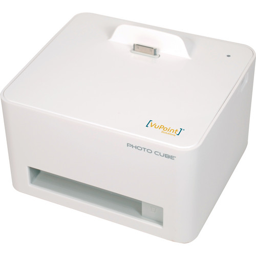 VuPoint Solutions Photo Cube Compact Dye-Sub Photo Printer for Mobile Devices