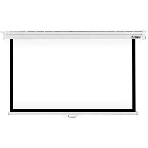 "Vutec CMD061-109MWW Consort Manual Deluxe 61 x 109"" Projection Screen (White)"