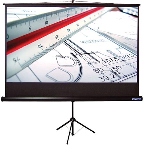 """Vutec CT060-060MWB Consort T-Series 6"""" x 60"""" Tripod Projection Screen"""
