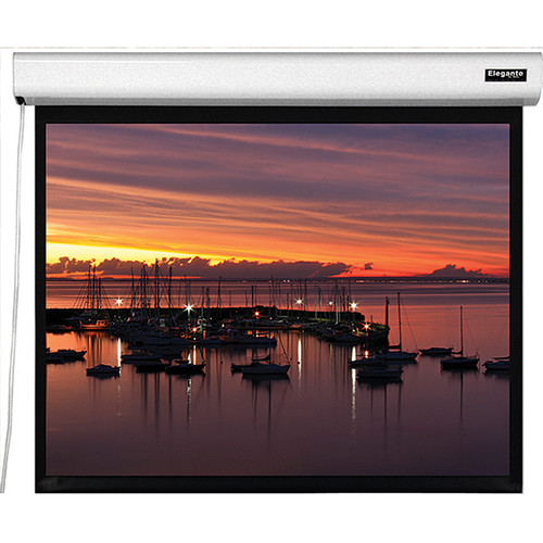 "Vutec ELM060-096MGW1 Elegante 60 x 96"" Motorized Screen (White, 120V)"