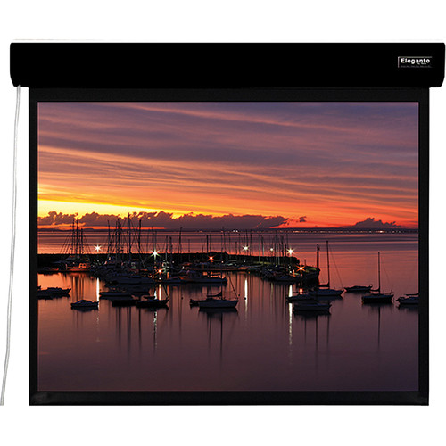 "Vutec ELM084-084MWB1 Elegante 84 x 84"" Motorized Screen (Black, 120V)"