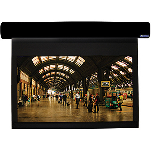 "Vutec L1080-128SSB1 Lectric I 80 x 128"" Motorized Screen (Black, 120V)"