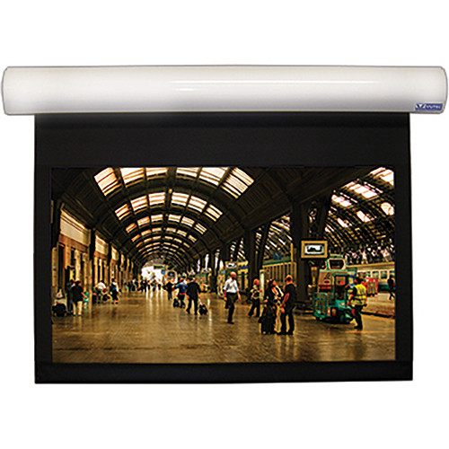 "Vutec L1080-128SSW1 Lectric I 80 x 128"" Motorized Screen (White, 120V)"