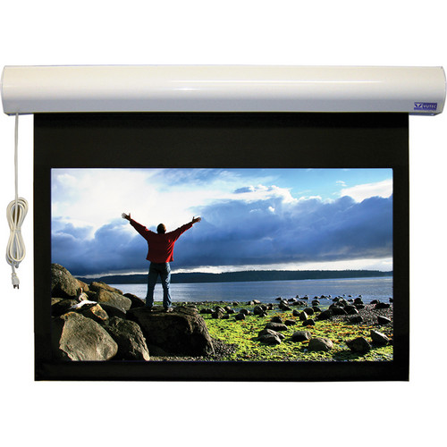 """Vutec 43 x 57"""" Lectric I RF Plug-and-View Motorized Projection Screen with SoundScreen (Dove Gray)"""