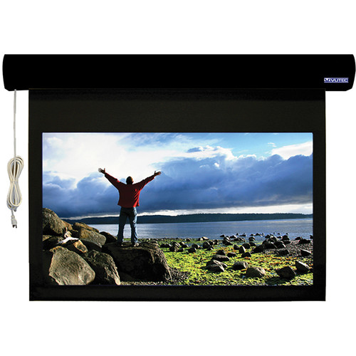 "Vutec L1RF080-128PRB1 Lectric I RF 80 x 128"" Motorized Screen (Black, 120V)"