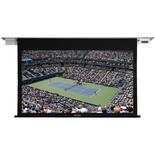"Vutec L2086-138GSB1 Lectric II 86.5 x 138.5"" Ceiling-Recessed Motorized Screen (Black, 120V)"