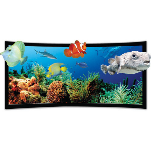 Vutec SST3DP045-080BVF SilverStar 3D-P Curved Ultra Thin Fixed Frame Projection Screen