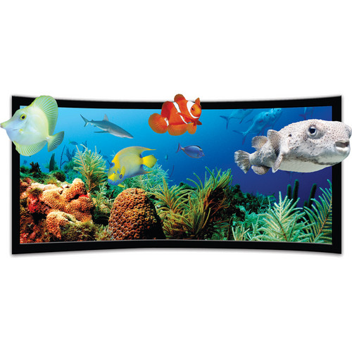 Vutec SST3DP050-118BVF SilverStar 3D-P Curved Ultra Thin Fixed Frame Projection Screen