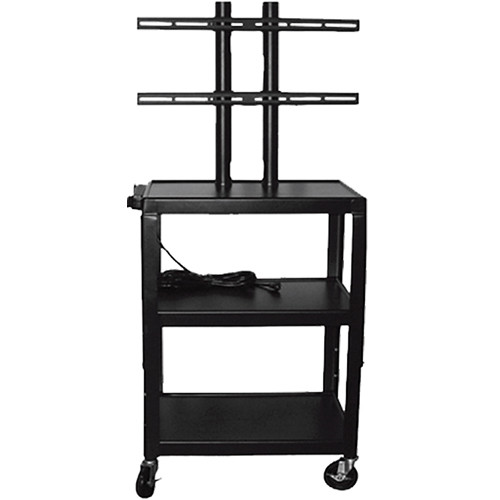 "Vutec Adjustable Flat Panel Cart with Twin Post Design (26"" to 42"" Adjustable Height)"