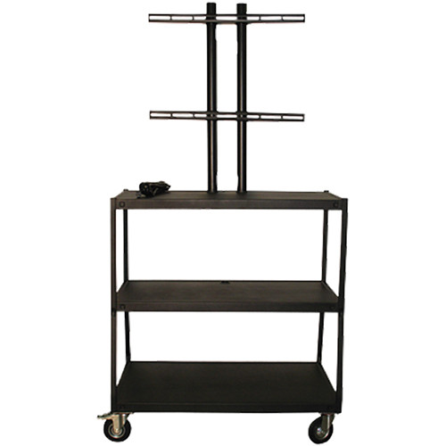"Vutec Wide Body Flat Panel Cart with Pyramid & Twin Post Design (32 x 18"" Shelf Size)"