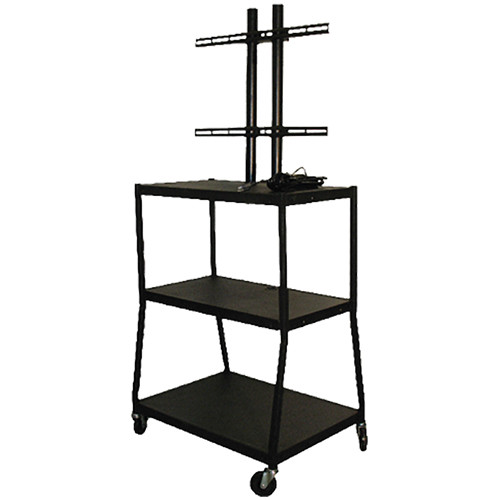 "Vutec Adjustable Flat Panel Cart with Twin Post Design (34"" to 54"" Adjustable Height)"