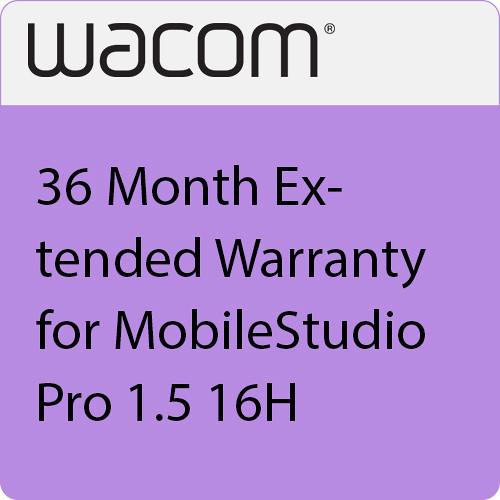 Wacom 36 Month Extended Warranty for MobileStudio Pro 1.5 16H