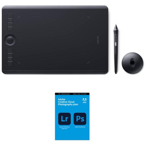 Wacom Intuos Pro Creative Pen Tablet & Adobe Creative Cloud Photography Bundle