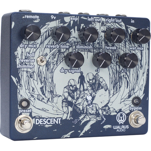 WALRUS AUDIO Descent Reverb and Octave Machine Pedal