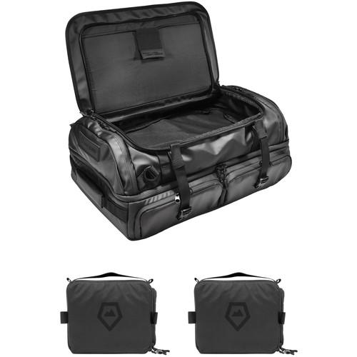 WANDRD HEXAD Access 45L Duffel with Two Medium Camera Cubes Kit (Black)