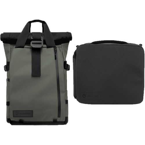 WANDRD PRVKE 31L Photo Bundle with Essential+ Camera Cube (Wasatch Green)