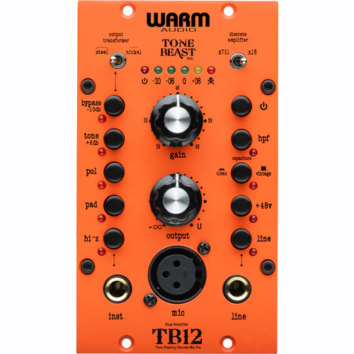 Warm Audio TB12/500 - Tone Beast Microphone Preamplifier for 500 Series Rack