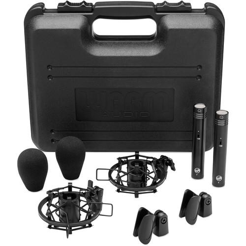 Warm Audio WA-84 Small Diaphragm Condenser Microphone (Stereo Pair, Black)
