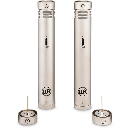 Warm Audio WA-84 Stereo Microphone Pair with Omni & Cardioid Capsules (Nickel)